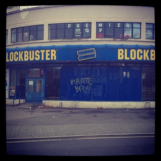 Truer words were never spray painted. #southamptonUK #graffiti #spraypaint #blockbuster #piratebay #truedat