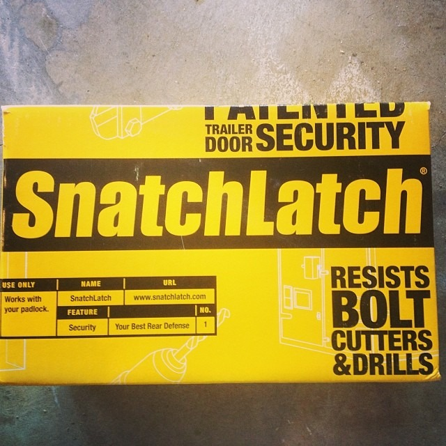 Going out of town? Latch up that snatch. #SnatchLatch #tourgear