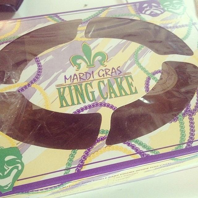 My day just got a whole lot better! #kingcake #vegan #eggfree #neworleans #mardigras kingcake from Breads in Oak in New Orleans