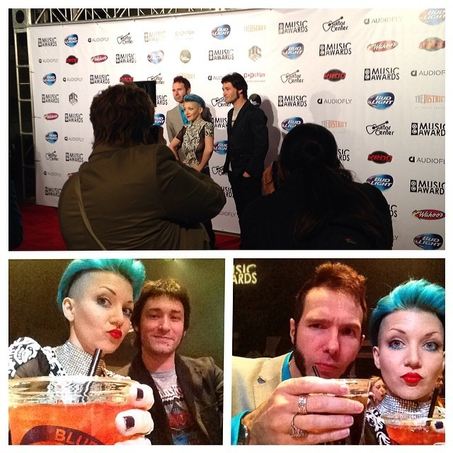 #redcarpet done! Time to get our #drink on . @ocmusicawards @wellhungheart
