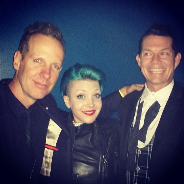 And then this happened. My dreams came true meeting @Tom dumontnd and @adrianyoung . #secondyearstalkingadrian #nodoubt thanks Gwen for letting me be you for 5 seconds. Love you guys. Yay OC. @wellhungheart (at Grove of Anaheim)