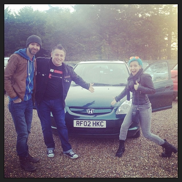 Look ya'll - we gots a car! Thanks to @deanomatthias we have the new UK #WellHungHonda ! Lookout! @wellhungheart