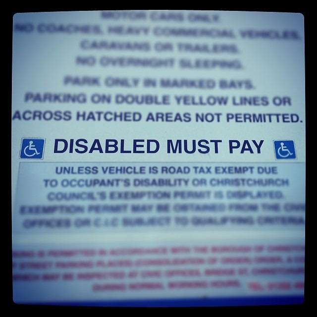 Wow #england! Don't you think the disabled have paid enough. Seems a bit harsh… #Disabledmustpay #gotstyle #nomercy