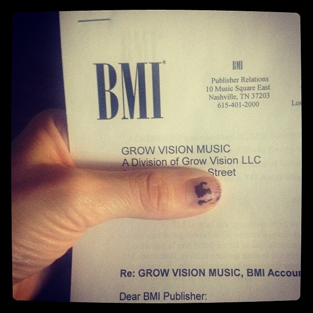 It's official! We @wellhungheart, now have our own publishing company under GROW VISION MUSIC through @bmi! Thank you @JustinSeiser from BMI for the consultation and @ocmusicawards for hooking that meeting up!!!!