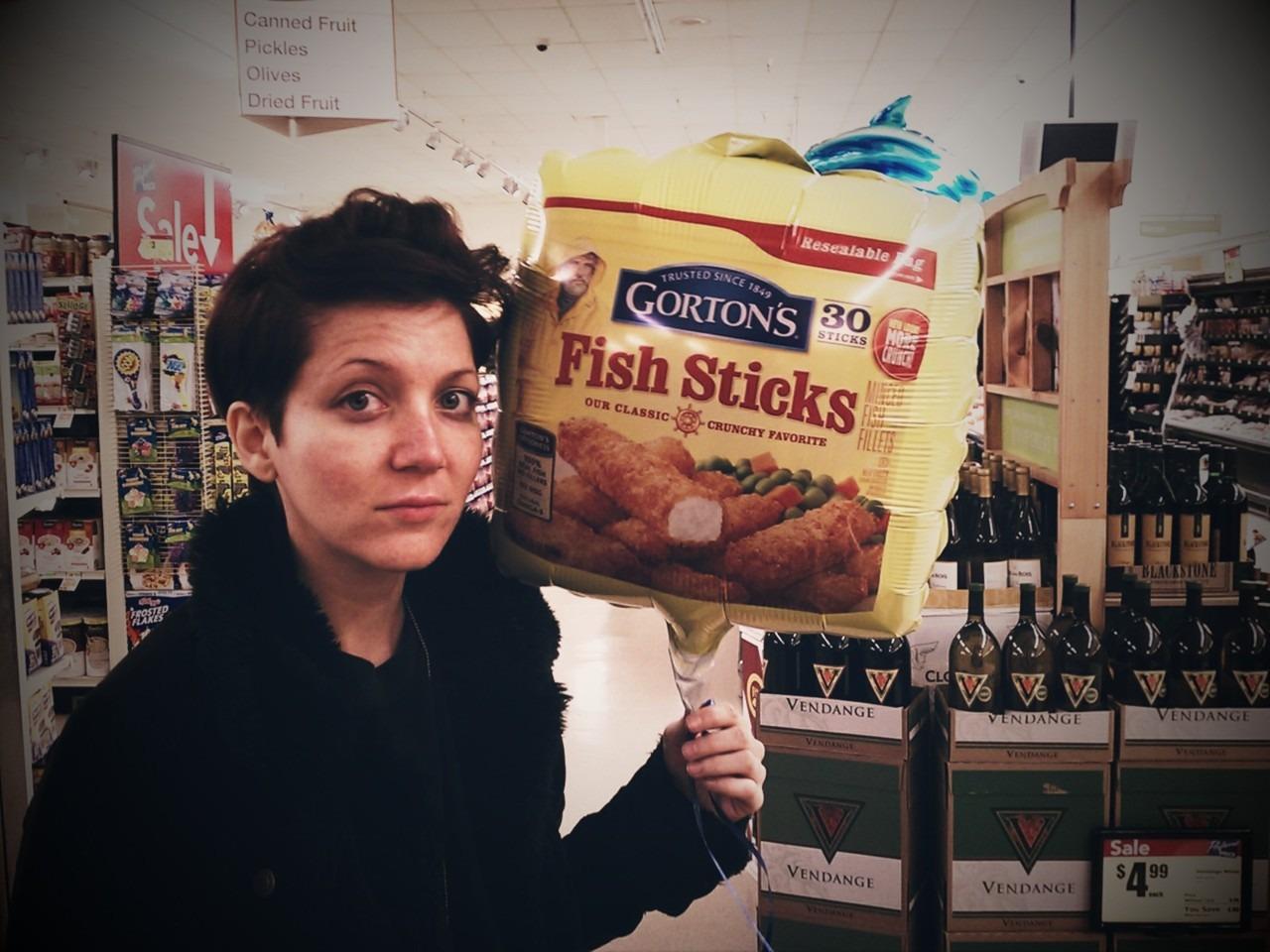 Fukin Fish Sticks Balloon. #FishSticksBalloon