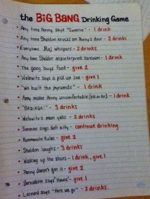 BBT drinking game.