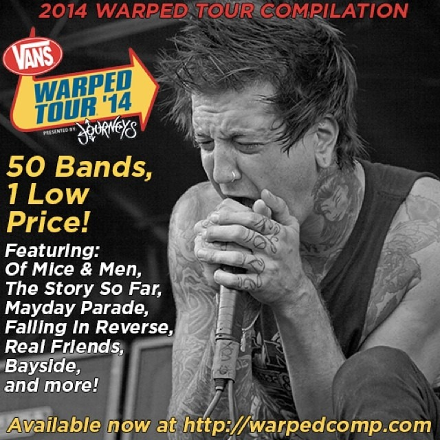 Out Today!!! The @warpedtour compilation disc featuring 50 bands including @WellHungHeart is out today!! Get your copy at »> http://warpedcomp.com/ «< only $5.00 !!