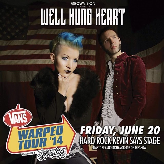 Tomorrow @WellHungHeart play @vanswarpedtour in #Pomona !!! Thanks again to @KevinLyman and @ocmusicawards for making this happen! #warpedtourpomona #warpedtour #vanswarpedtour