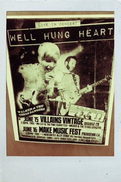 Poster from that night…