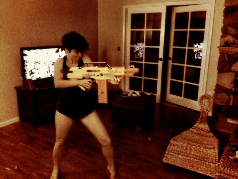 Nerf war!!!! Don't mess with me, Phil!