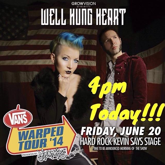 @WellHungHeart at @vanswarpedtour at the Hard Rock / Kevin Says Stage today at 4pm!!!!! #vanswarpedtour #warpedtourpomona #warpedtour  (at Ponoma Fairplex)