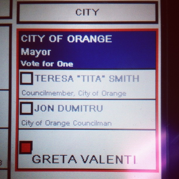 Write in…well okay! #GretaValentiForMayor