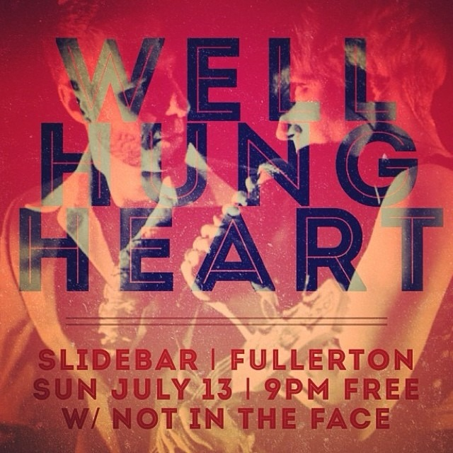 /// SHOW SUNDAY @slidebar Fullerton at 9pm + FREE !! \\ w/ Austin rockers, Not in the Face!!!@notinthefaceusa @wellhungheart