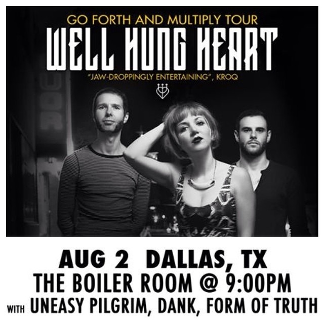 TONIGHT in #DALLAS /// @wellhungheart at @TheBoilerRoom Dallas /// show starts at 9:00pm (WHH at 11) /// #rock #rockshow #rockyourfaceoff #dank #formoftrutg #uneasypilgrim #wellhungheart #drowningpool