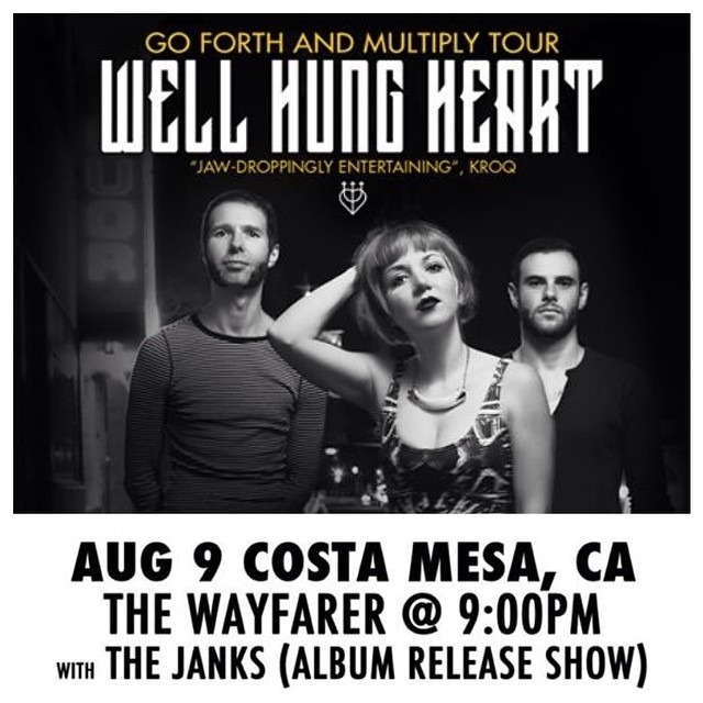 TONIGHT in #orangecounty /// @wellhungheart #GoForthAndMultiply album release at @wayfarercm . 9pm $5 #wayfarercm #wellhungheart @thejanks @bigmonsta