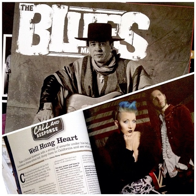 """Blues for a Modern World"" Picked up a copy of #thebluesmagazine at Barnes & Noble today and look who's inside @wellhungheart July 2014 Issue out now in the states!!!"
