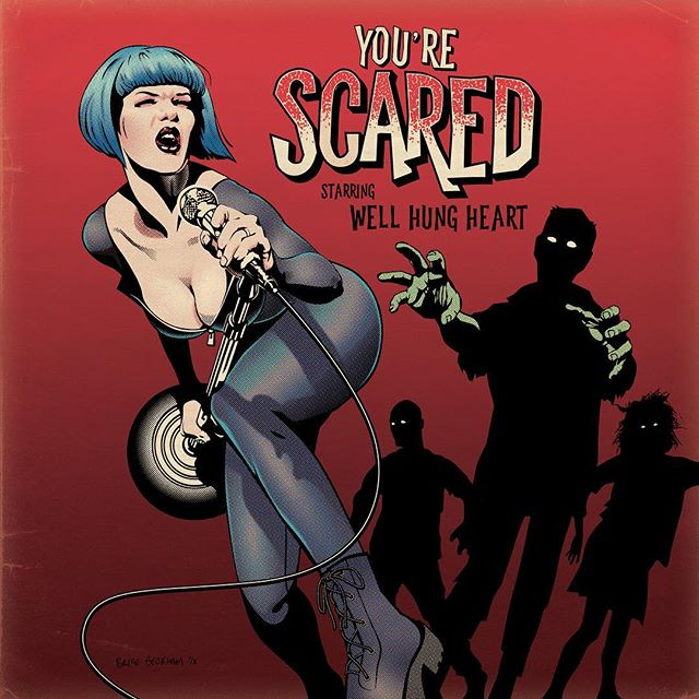 🧟‍♀️YOU'RE SCARED 🧟‍♂️ The new single from Well Hung Heart is coming soon. As usual, the song will be released early for all of our followers on BandCamp any day now... (wellhungheart.bandcamp.com) ! 🔥JAN 25 // Spotify, iTunes and most digital retailers. ( Killer illustration by legend, @bricebeckham + titles/bg by @gretavalenti. Song mix by Joseph Holiday @loosefang .)🧨 . . . #punkblues #bluespunk #zombieapocalypse #zombie #musicvideo #comingsoon #yourescared #wellhungheart #illustration #comic #animation #zombiecomics