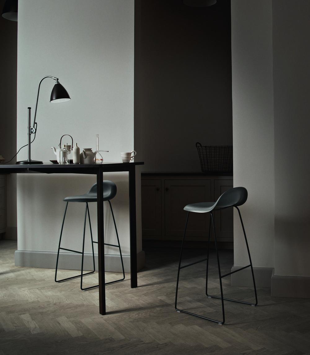 gubi 3d bar stool wood base