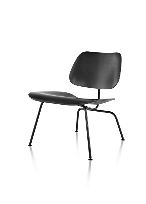 EAMES MOLDED PLYWOOD CHAIR METAL BASE
