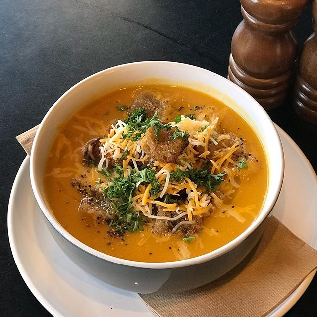 Cold weather getting you down? ❄️ Need a warm pick me up? Then we've got the perfect thing for you!! Sweet Potato, Chickpea & Onion Soup 🍠 topped w/ croutons and house made dukkah 🍜 #healthyeating #delicious #healthylifestyle #healthyfood #marcellexo #soup #winterwarmer #pottspointeats #pottspointfood #pottspointcafe