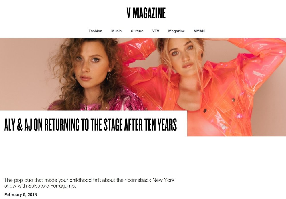 Aly + Aj for V Magazine