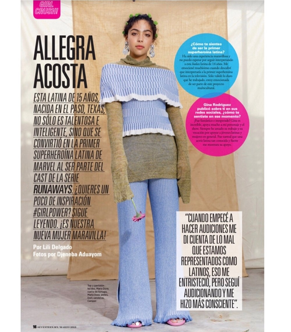 Allegra Acosta for Seventeen Mexico