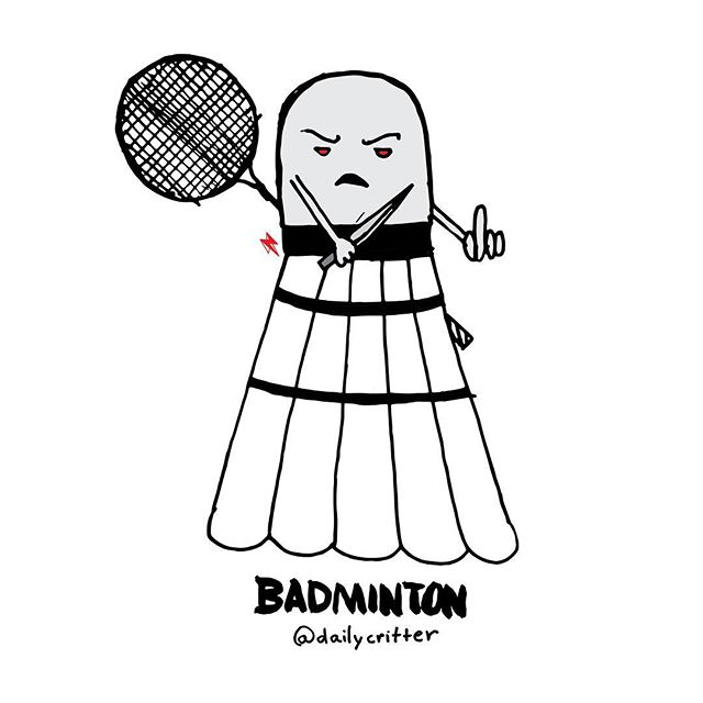 Raqueteering is only th beginning ... #badminton #olympics #olympics2016 #bad #wordplaywednesday #puns #dailycritter #playingcards