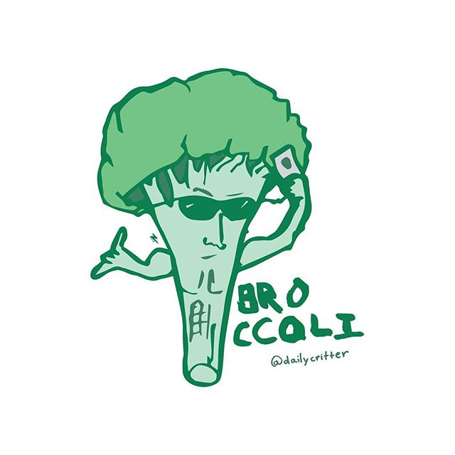 Taking selfies, pumping Iron. #broccoli #bro #umadbro #broccoliisalie #puns #wordplay #daily #playingcards #critter