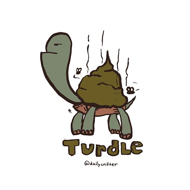 Careful, you don't want to step on the turdle. #turtle #turd #puns #wordplay #playingcards #💩