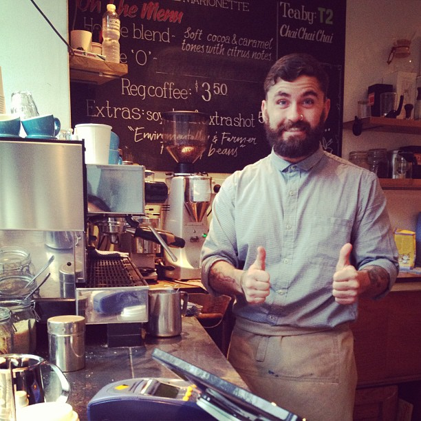 Have you met our most recent addition to our barista team here at Posto? Meet Peter (or aka Allen) who pours a superb latte for our customers. #barista #postono19 #cafeposto
