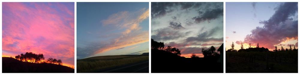 Sunsets in Pokolbin