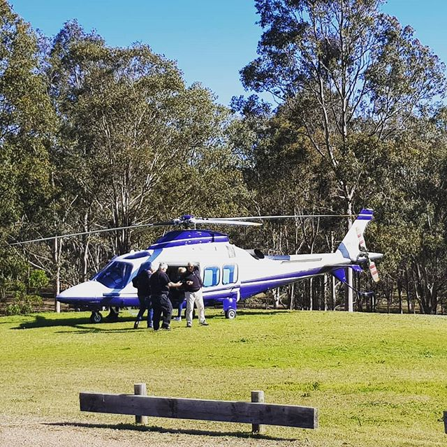 Now that's visiting the Hunter in style. #chopperenvy #helicopter #huntervalley #style