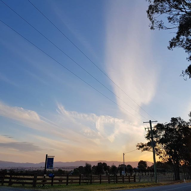 Spectacular skies in #huntervalley this evening. How was the scenery on your drive home?. . . . . #Sunset #winecountry #visitnsw #marketer #drivehome