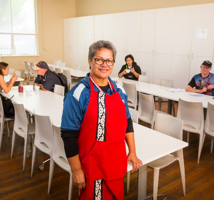 Donna Pomare at the Liverpool Community Kitchen & Hub.