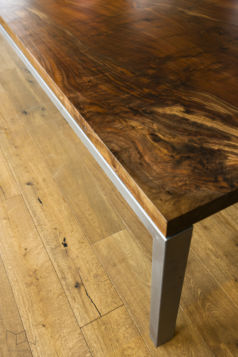Salvaged slab wood is available for select projects. The wood is sourced from sustainably harvested trees, mainly throughout the Central Valley and other parts of Northern CA.
