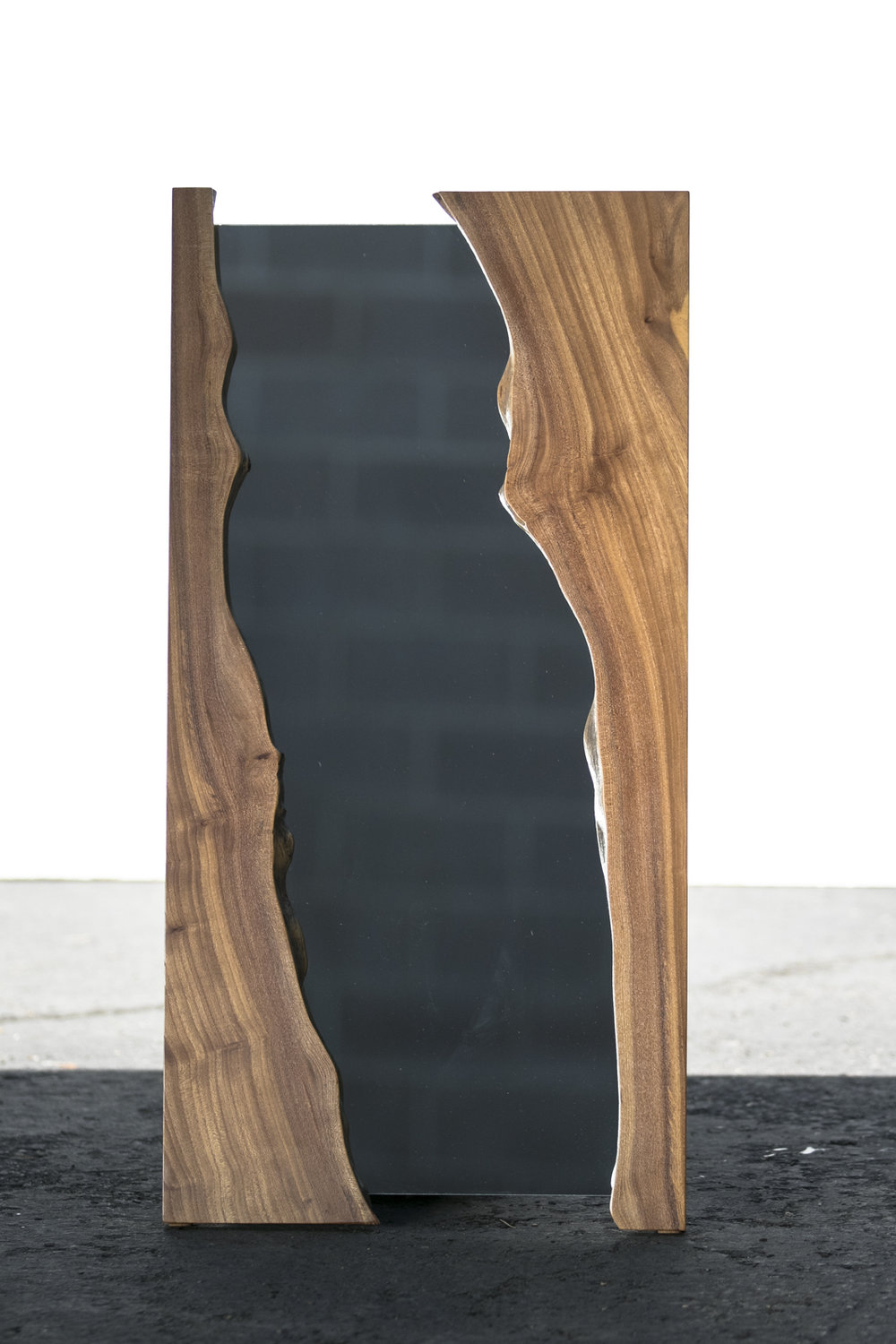 LIVE EDGE ELM MIRROR