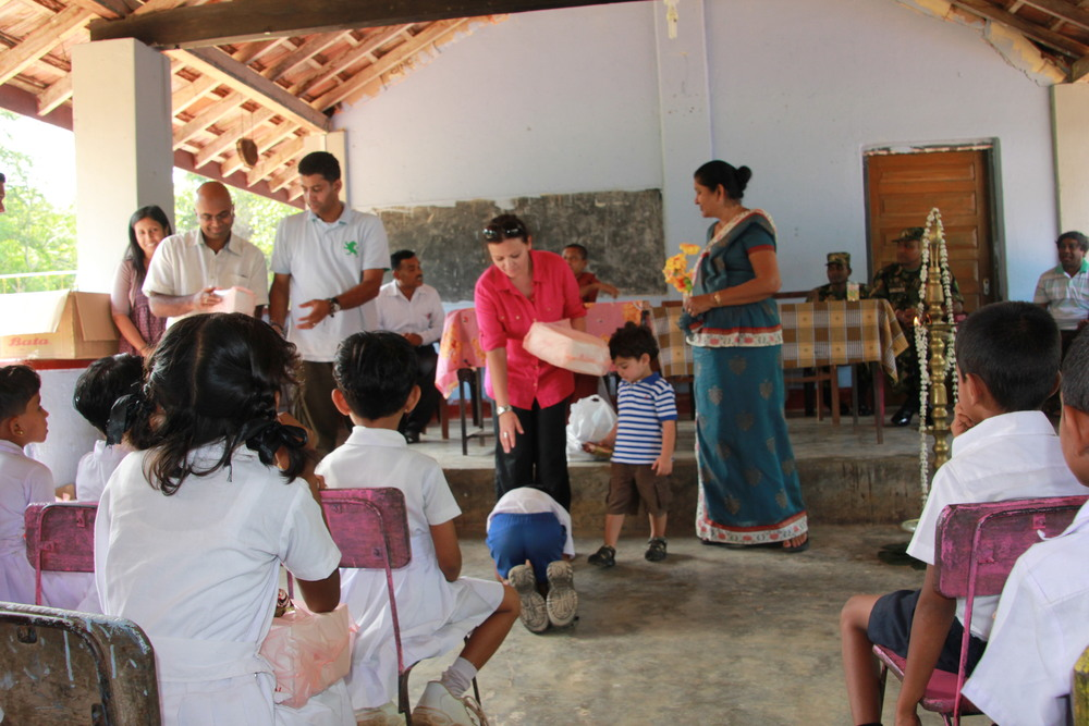 Donation event in Kabethigollawa 2012