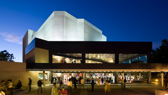 Exterior shot of the Irvine Barclay Theatre.