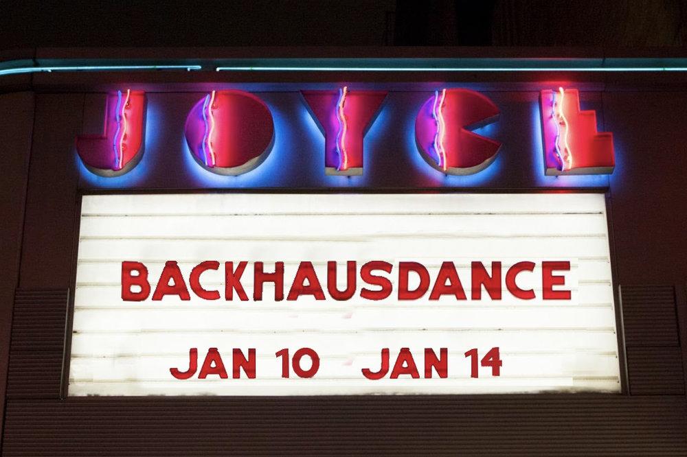 Joyce Marquee Backhausdance
