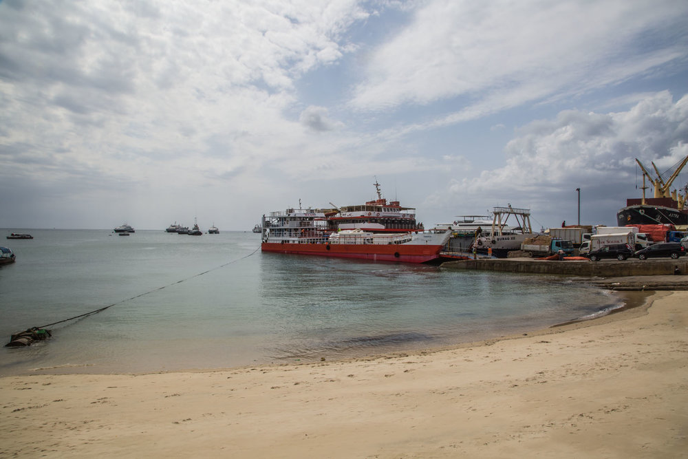 The port in Stone Town