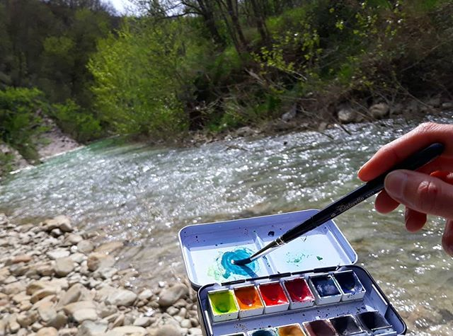 New account! @agallocolors You never know which way the river will carry you! As many of you know, after making my own paints for years, my passion for pigments has led us to launch a line of handmade paints! I am moving this project to its own instagram account! Follow me there @agallocolors and tag your friends! I am going to be sharing everything that we have been working on and having a giveaway soon! ❤alina