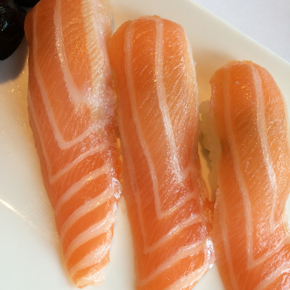 salmon belly nigiri Sushi Itaewon Seoul South Korea
