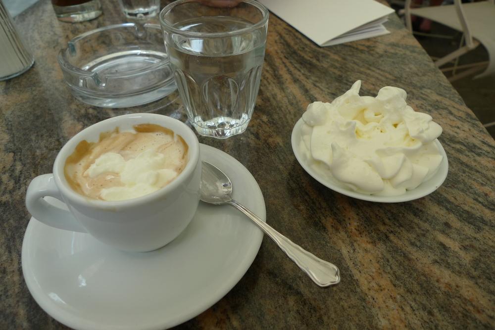 Demel Coffee mit Schlagobers