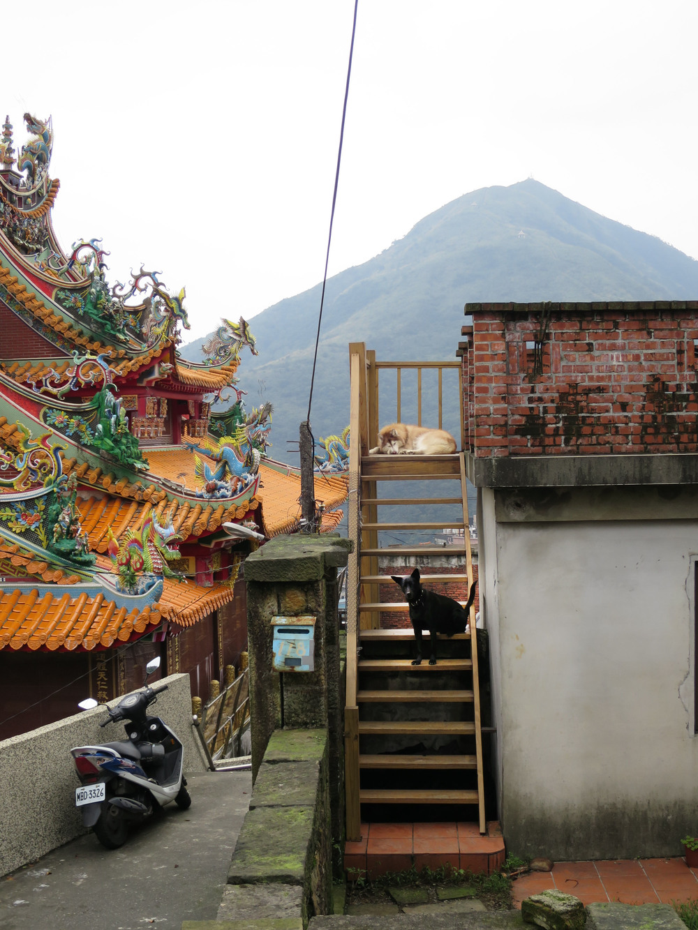 Temple Roof in Jiufen, Taiwain