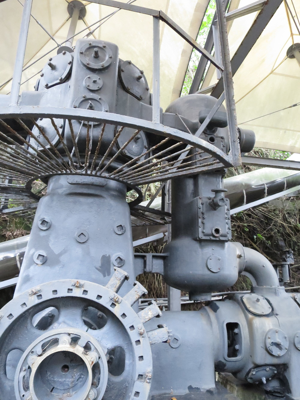 Giant Air Compressor at the Jinguashi Gold Museum, Taiwan