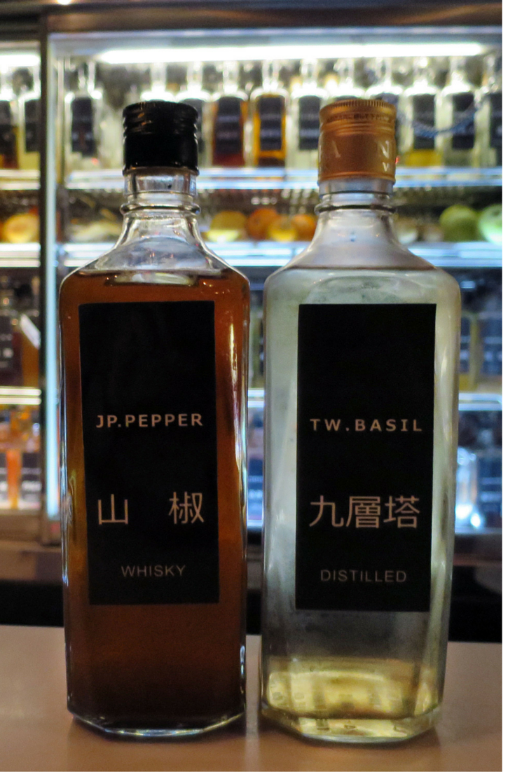 House Infusions and Distillations at Wa Shu bar in Taipei, Taiwan