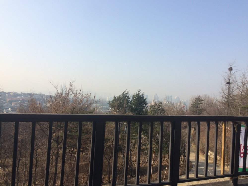 There's usually skyscrapers and mountains in this view of Seoul. Really.