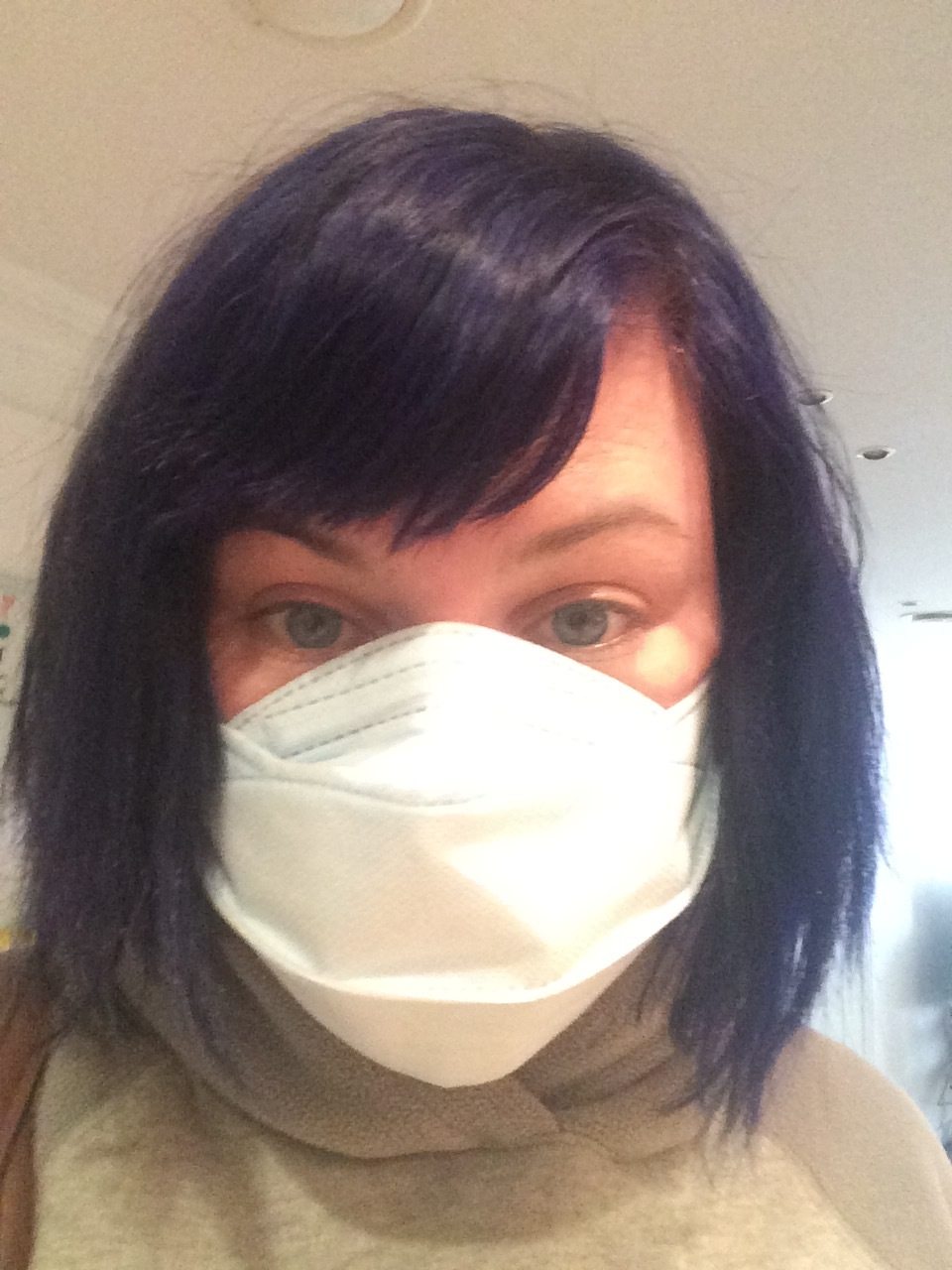 Me before leaving for eMart yesterday. Shredder mask 4EVA.