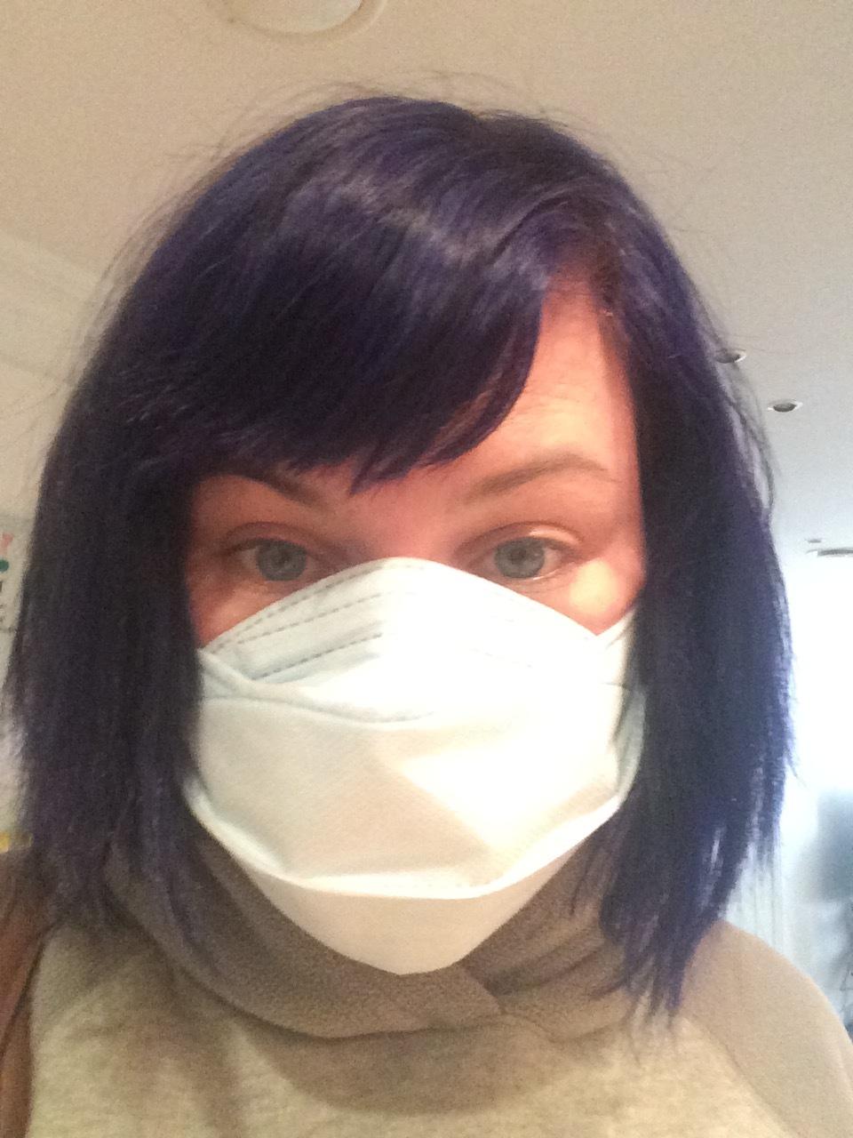 Me before leaving for eMart yesterday. Shredder mask 4EVA.