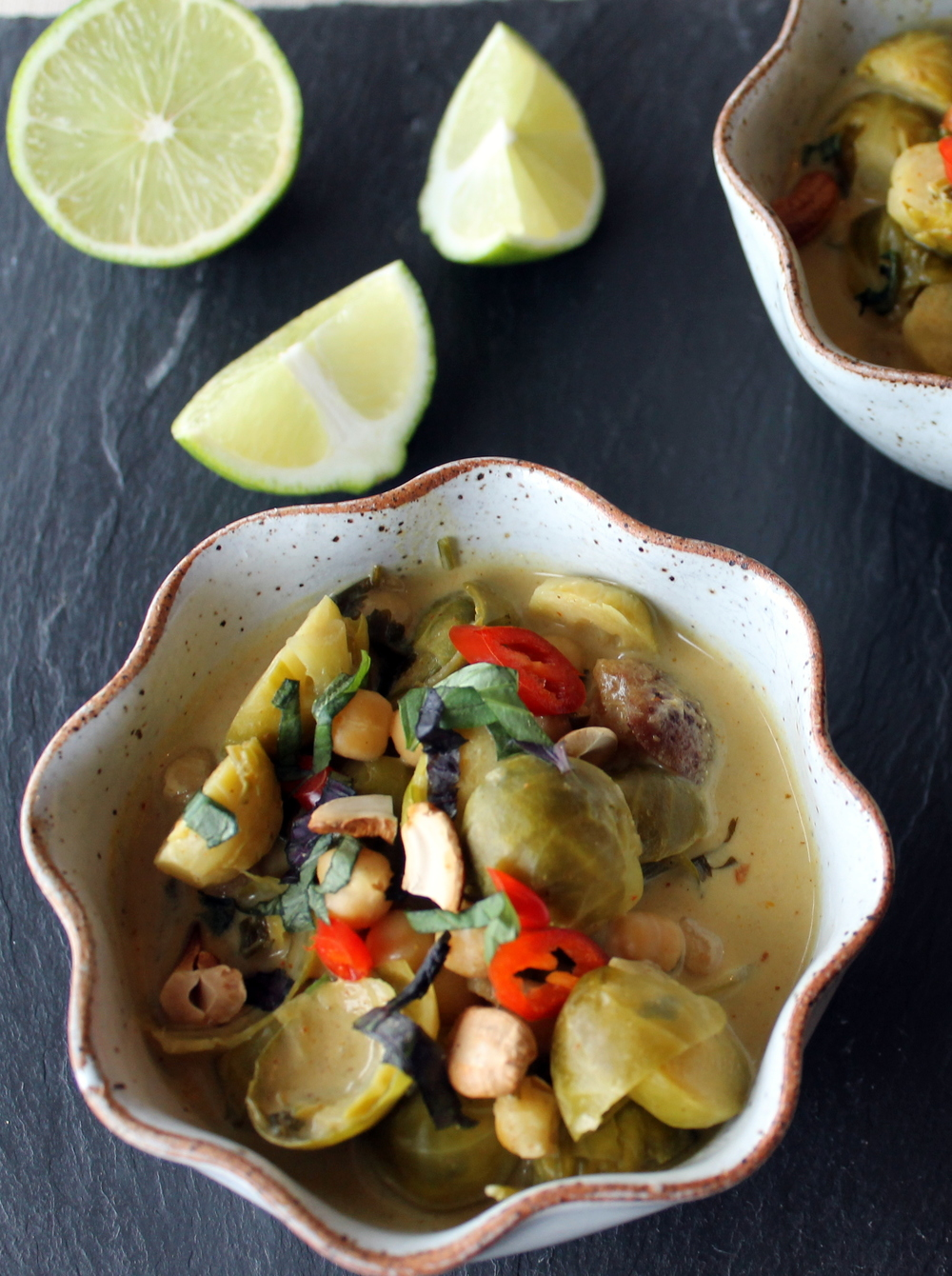 Brussels Sprout Coconut Curry